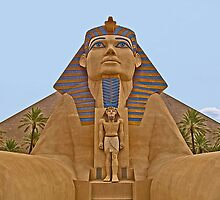 The Sphinx and Little Pharaoh by Memaa