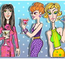 Three Martini Divas by PopArtdiva