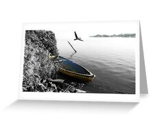"""That Sinking Feeling"" Cormorant Greeting Card"