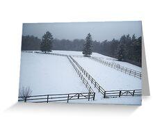 Horse Paddocks in winter, Bad Homburg Greeting Card