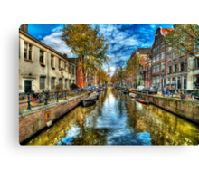 Amsterdam in Autumn Canvas Print