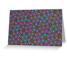 Silicon Atoms Blue Pink Black Greeting Card