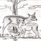 Deer Time by cjsheena