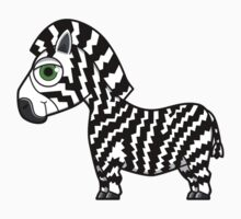 Zig Zaggy Zebra by abcanimals
