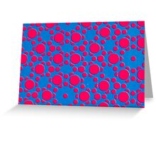 Silicon Atoms Red Blue CU Greeting Card