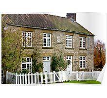 Cottages  c1892 Old Byland-North Yorkshire. Poster