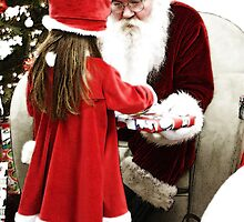Santa n Lil Girl by Karl Baitz