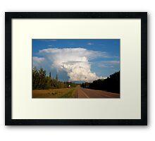 Rising thundercloud Framed Print