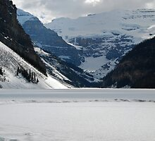 Ice Rink - Lake Louise by Barbara Burkhardt