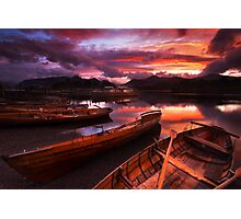 Sunset on Derwent Water, The Lake District Photographic Print