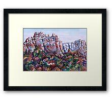 Snoopy Rock - Sedona Arizona Framed Print