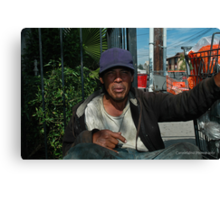 """"""" 20 years on the street """". Canvas Print"""