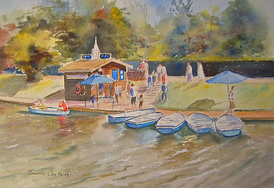 Boating in Hythe by Beatrice Cloake