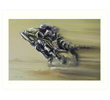 Gator Rider Art Print