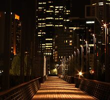 Melbourne boardwalk by Ian Stevenson