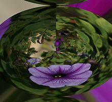 PURPLE FLOWER IN A BALL by michael a. chestnut