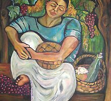 Pan y Vino/Bread and Wine by Ruth Olivar Millan