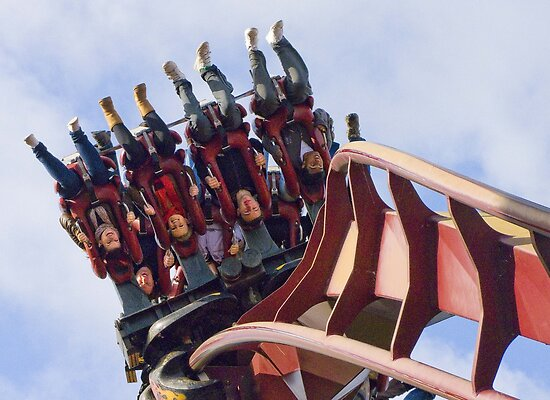 Nemesis Inferno - Hang on !!!  by Colin J Williams Photography