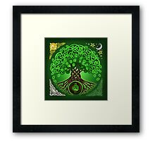 Circle Celtic Tree of Life Framed Print