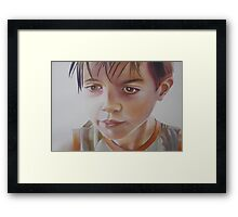 Imaginary Friend, watercolor on paper Framed Print
