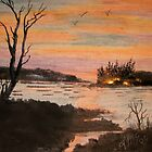 Camp Fire Island by linmarie