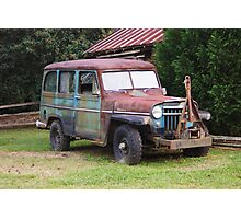 Rusty Willys Jeep Photographic Print