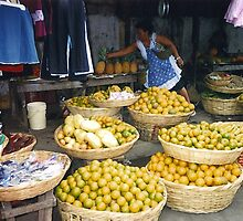 Yellow Fruit Stand - Nicaragua by SylviaS
