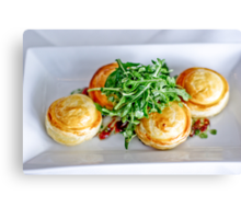Food: Goats cheese tart Canvas Print