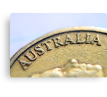 Australian Coin Canvas Print