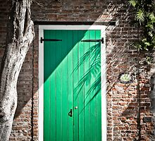 Green Door in French Quarter, New Orleans USA by GJKImages
