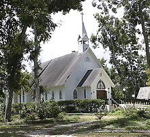 Small White Church in Titusville Fl. by Tony Weatherman