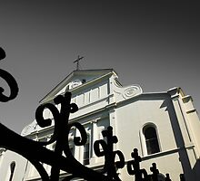St Louis Cathedral & Iron Work New Orleans LA USA by GJKImages