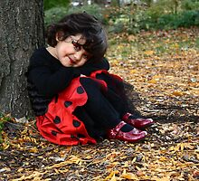 Ladybug princess in the forest by Ghelly