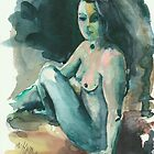 Nude I - Study of Amanda by Elisabeta Hermann