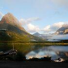 Morning Mist - Glacier National Park by Amy Hale