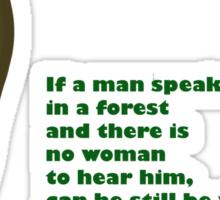 Forest Humor Sticker