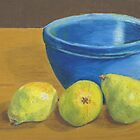 Pears on Desk with Bowl by RedPine