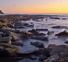Kings beach rocks by Liza Yorkston