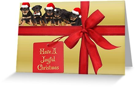Rottweilers Wish You A Joyful Christmas by taiche