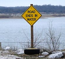 Road ends in water by Vicki Hudson