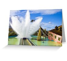 Tidal Wave - Thorpe Park Greeting Card