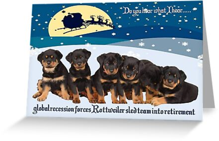 Global Recession Forces Christmas Sled Team Into Retirement by taiche