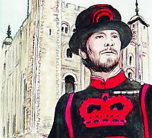 London Tower Guard by morgansartworld