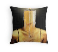THE CANDLE FLAME Throw Pillow