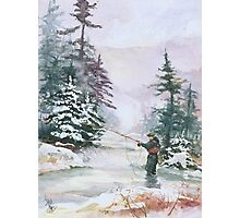 """Winter Magic - A very """"Wintery"""" and Calm Fishing Scene Photographic Print"""
