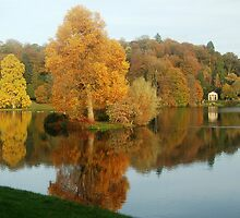 Stourhead at Autumn by Christine Courage