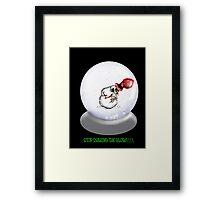 Nauseous Snowman Framed Print