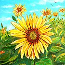 Golden Sunflower by  Linda Callaghan