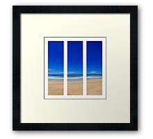 Summertime Blues - Triptych Framed Print