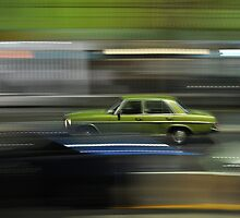Car Panning Shot at Night by Jason McFarlane
